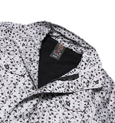 Luke 1977squaddy pour homme Fermeture Éclair à motif camouflage neige technique pour femme Blanc - Blanc hivernal
