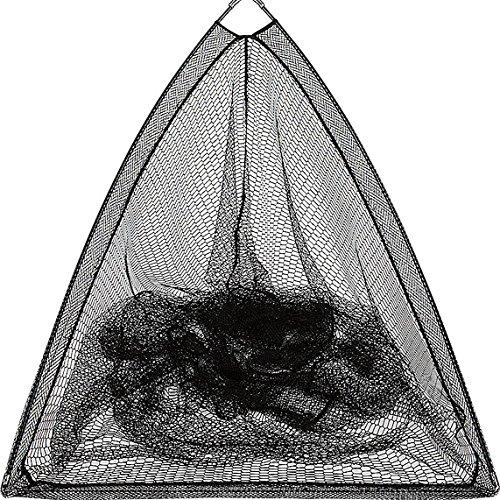 Fladen Angeln Große, dreieckige astreines Mesh Kescher (100x 100x 110cm) mit gummierten Griff 185cm–ideal für Karpfen, Pike [32–Feder]