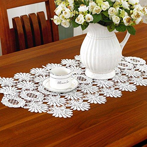 QiangZi Chemin De Table Blanc Salon De Dentelle / Restaurant / Plage / Linge De Table De Cuisine Anniversaire De Mariage Set De Table, 40 * 220CM ( taille : 40*220cm )