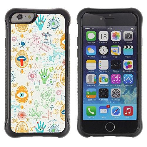 Graphic4You BLACK STRIPES Muster Shockproof Anti-Rutsch Weichen Hülle Case Tasche Schutzhülle für Apple iPhone 6 Plus / 6S Plus Design #16