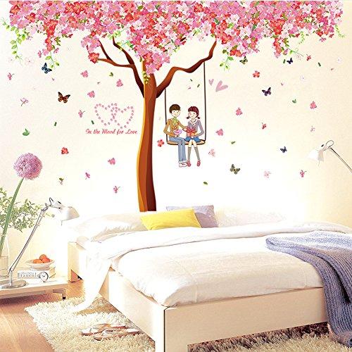 wallpark-romntico-cereza-florecimiento-flores-rbol-balanceo-amantes-desmontable-pegatinas-de-pared-e
