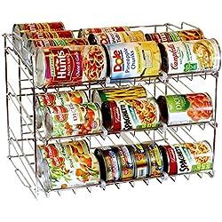 Taylor & Brown® 3Tier apilable organizador de Can, de almacenamiento para 36latas–gran para el estante de la despensa, armario de cocina o counter-top. Pila otro Set en la parte superior a doble su capacidad de almacenamiento.