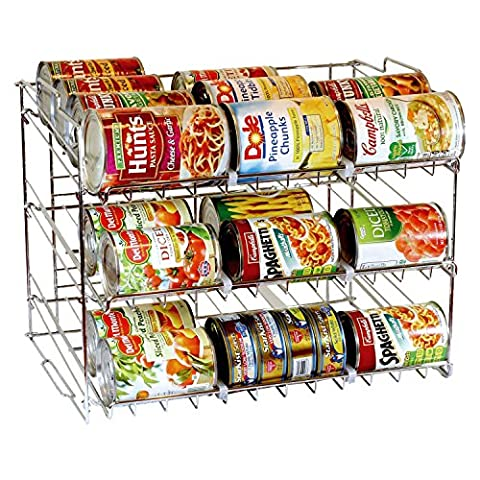 Taylor & Brown® 3 Tier Stackable Can Rack Organizer, Storage for 36 cans - Great for the Pantry Shelf, Kitchen Cabinet or Counter-top. Stack Another Set on Top to Double Your Storage Capacity.