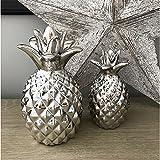 Bibelot ananas décoratif (18cm x 9cm x 9cm) (Argent)
