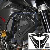 XX ecommerce Motorrad Aluminium Heizkörper Seite, Platte COVER GUARD Displayschutzfolie passgenau für 2015–2016Yamaha MT FZ 1020Stück FZ1015–16, schwarz
