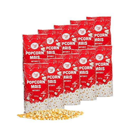 Popcornmais 10 x 500 g Original Popcornloop Popcorn Mais Beste Gold Qualität Ohne Gentechnik Vegan Glutenfrei Bester Geschmack