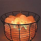 BBC Plancha de sal del Himalaya lámpara Lámpara de mesa dormitorio cálida lámpara de mesilla de noche de atenuación de luces decorativas europeas de luz negra, la reencarnación, el interruptor atenuador