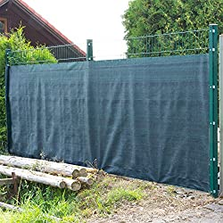 DEMA Sichtschutzzaun 25 x 1,5 m dunkelgrün