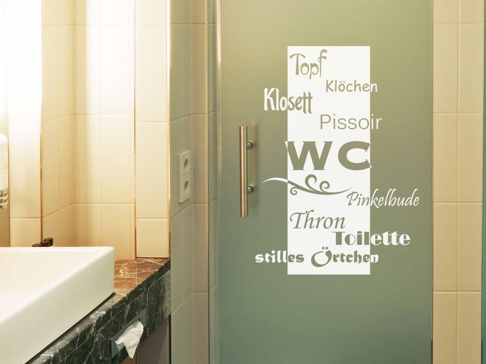Glasdekor Fensterfolie Aufkleber Sichtschutz Badezimmer WC Klo Toilette  (42x30cm): Amazon.de: Küche U0026 Haushalt