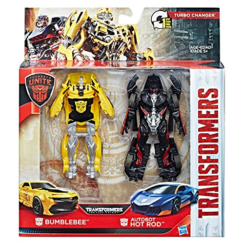 Transformers Autobots Unite - Turbo Changer Bumblebee & Autobot Hot Rod