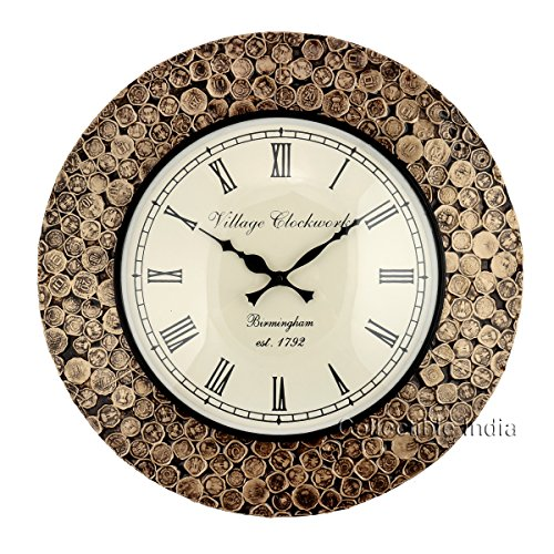 Buy Collectible India Antique Coins Studded Wall Clock