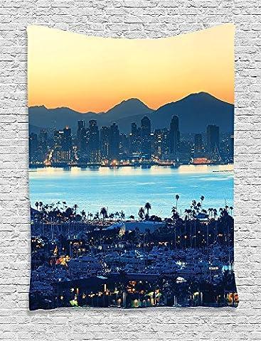 Ambesonne appartement Decor Collection, chambre à coucher Salon Dortoir Décoration murale à suspendre tapisseries, Multicolore, Tissu, Multi 29, 40
