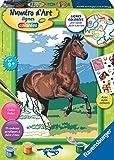 Ravensburger28593Malen nach Zahlen, mittelgroß, Braunes Pferd im Galopp