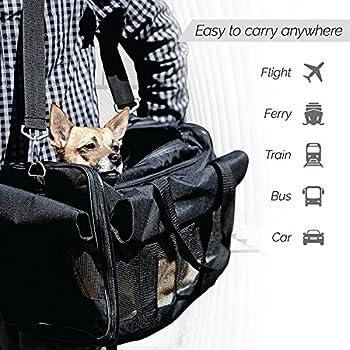Petsn'all - Pliable Sac Transport pour Petits Chiens, Transporteur Chat ?Chien, Animal Approuvé Des Compagnies Aérienne, pour Voyage en Voiture ou en Train