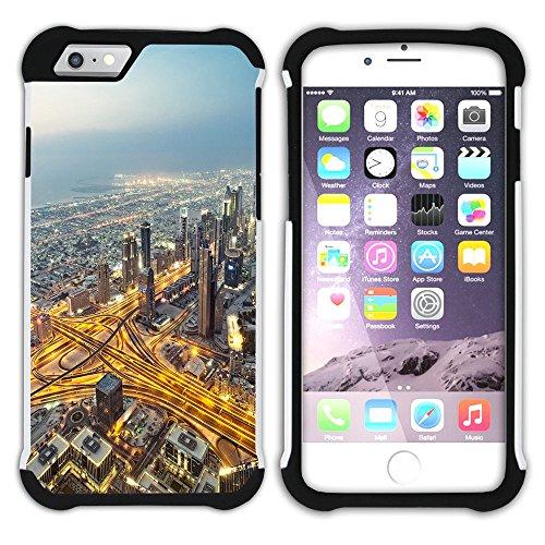 Graphic4You Burj Khalifa Skyscraper Dubai Postkarte Ansichtskarte Design Hart + Weiche Kratzfeste Hülle Case Schale Tasche Schutzhülle für Apple iPhone 6 Plus / 6S Plus Design #2