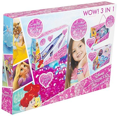 SAMBRO Disney Bead Set de Princesas, Color Rosa (DSP13-4562)