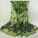 BaojunHT Ladies Muffler Banquet Accessories Women Elegant Scarves Peacock Print Stole
