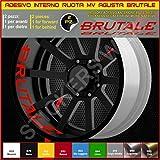 MV Agusta BRUTALE adesivi ruote interno strisce cerchi decalcomanie strip cerchioni Cod. 0298 (031 Rosso)