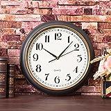 Wanduhr Europäische Uhr Uhr Uhr Schauen Stumm Runde Uhr Kreative Wohnzimmer Jugendstil - Restaurant - Tisch Zu Hause,A