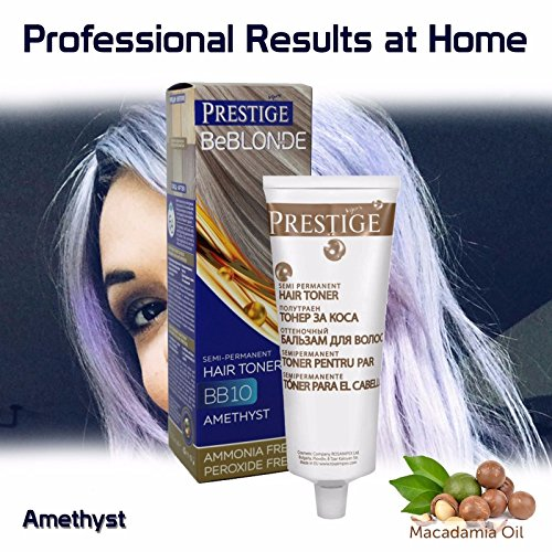 BeBlonde Semi-Permanente Haar Toner Farbe Amethyst BB10, Kein Ammoniak, kein Peroxid (Sunflower Haar-öl)
