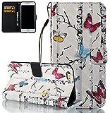 iPhone 6S Plus Hülle,Nnopbeclik® PU Leather mit Karten-Fach [OneFlow 360°Book Klapp-Hülle] Handytasche Kunst-Leder Handyhülle für iPhone 6 Plus/6S Plus Case Flip Cover Schutzhülle Tasche 5.5 Zoll