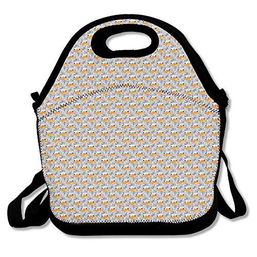 nd Flamingos Lunch Bag Tote Handbag Lunchbox For School Work Outdoor 11x11x5.5 Inch ()