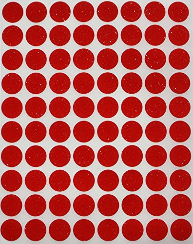 Etiquetas blancas redondas de 12,7 cm - paquete de etiquetas engomadas blancas con forma de punto - Acabado brillante de satén (paquete 1200)