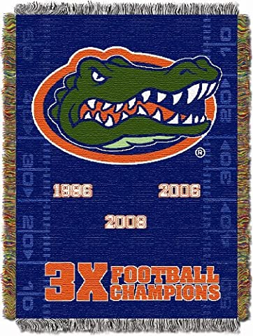 NCAA Florida Gators 48-Inch-by-60-Inch Commemorative Acrylic Tapestry Throw