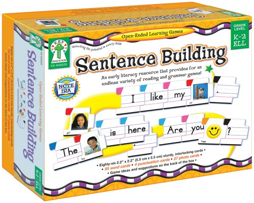 Sentence Building: An Early Literacy Resource That Provides for an Endless Variety of Reading and Grammar Games! (Open-Ended Learning Games)