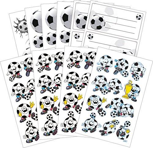 0 Fußball Sticker und Tattoo Set (Vorteils-Pack) 72 Aufkleber (Pack Fußbälle)