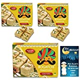 #2: BOGATCHI Eid Mubarak Gift Pack for Friends, Premium Eid Special Gift, Sweets for Eid, Traditional Soan Papdi 3 x 250g + Free Eid Mubarak Greeting Card