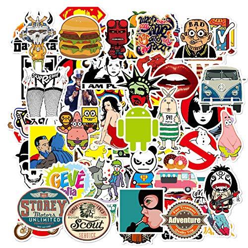 Cartone Animato Graffiti Autoadesivo Trolley Cassa Scooter AdesivoPvcNon Ripetere Impermeabile100Fogli
