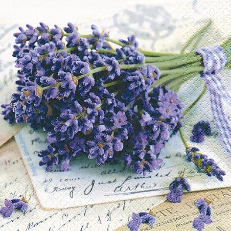 20 Servietten Lavender Greetings - Lavendel grüßt 33x33cm