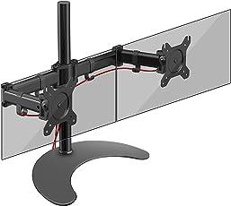 Duronic DM25D2 Monitor-Standfuß/Monitor-Erhöhung/Monitorhalterung / Tischständer für Zwei LCD und LED Bildschirme oder Fernsehgeräte