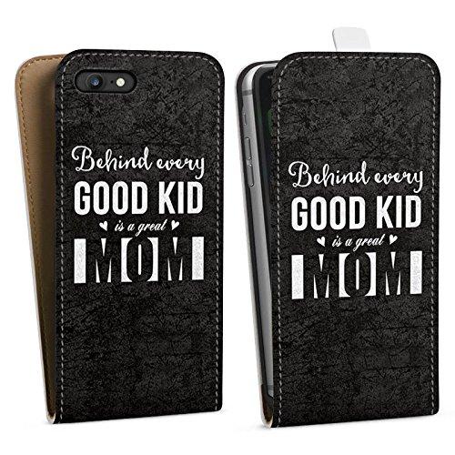 Apple iPhone X Silikon Hülle Case Schutzhülle spruch mom muttertag Downflip Tasche weiß