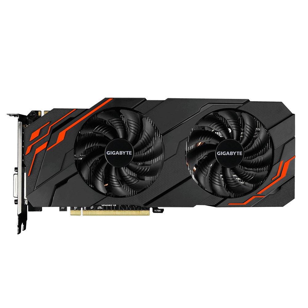 Gigabyte GV-N107TWF2-8GD GeForce GTX 1070 Ti 8Go GDDR5 Carte Graphique – Cartes Graphiques (GeForce GTX 1070 Ti, 8 Go, GDDR5, 256 bit, 7680 x 4320 Pixels, PCI Express x8 3.0)
