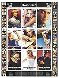 Briefmarken für Sammler–Movie Stars perforiert Stempel Tabelle mit Actors Michael Douglas/HUGH JACKMAN/Owen Wilson/George Clooney/Demokratische Republik Kongo