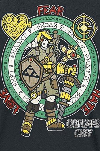 Cupcake Cult Herren T-Shirt Steampunk Legend T Schwarz