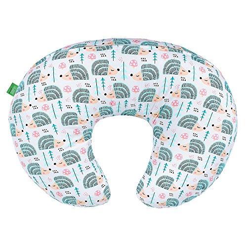 LULANDO Stillkissen, Nackenkissen und Lagerungskissen (55x42cm) für Babys und Erwachsene. Ideal auch für Kinder und als Reise-Kopfkissen. Farbe: Igelchen
