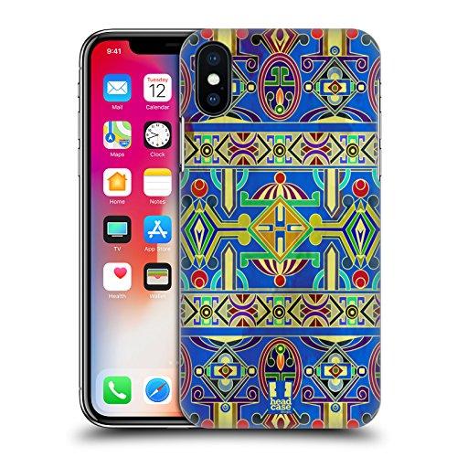 Head Case Designs Tamburo Di Tempio Tibetano Pattern Tibetani Cover Retro Rigida per Apple iPhone X Tamburo Di Tempio Tibetano