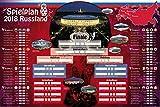 1art1 112781 Fußball - Weltmeisterschaft 2018, Russland, WM Spielplan XXL Poster 120 x 80 cm