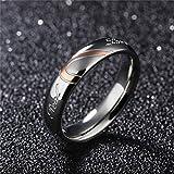 NYAOLE Liebe Herz Ring für Männer Frauen Liebe Herz Ringe Hochzeit Verlobungsring Paare Puzzle Herz Paar Ringe Schmuck, Frauen, 5