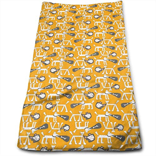 BBABYY Cat Dog Pattern Super Soft Polyester Extra-Absorbent Bath Towel Hand Towel Hair Towel 12 X 27.5 Inch/30cm X 70cm
