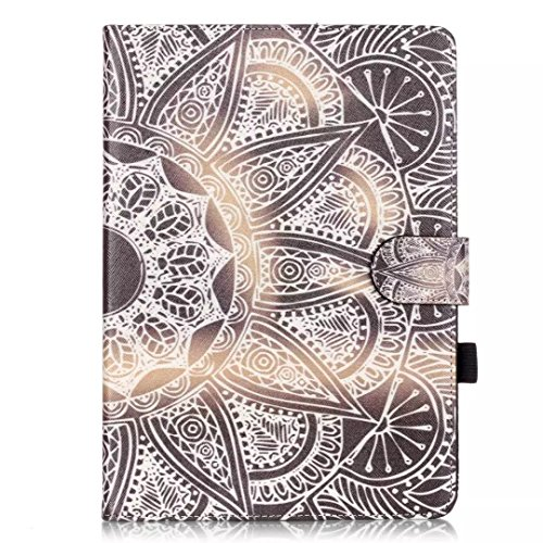 Vandot Etui IPad Air 2(iPad 6) Tablette Coque IPad Air 2(iPad 6) Ultra Slim Léger Smart Cover IPad Air 2(iPad 6) Cuir Case avec Support et fermeture magnétique et Carte Slots Housse Etui PU Cuir Flip  Tablet-d-10