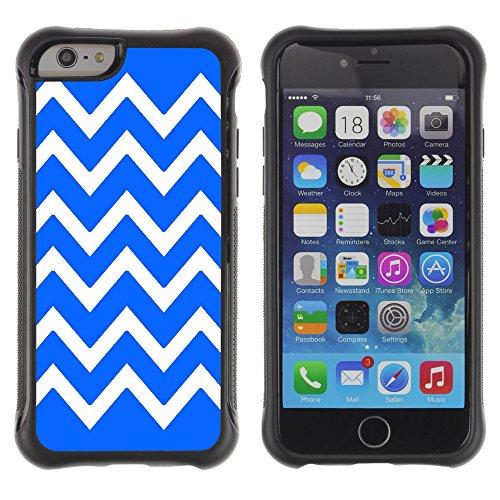 Graphic4You Chevron Muster Shockproof Anti-Rutsch Weichen Hülle Case Tasche Schutzhülle für Apple iPhone 6 / 6S (Rosa) Bleu Royal
