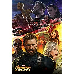 Los Vengadores: infinity Guerra Capitán América Póster, papel, multicolor, 91,5x 61x 0,03cm