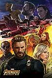 Avengers: Infinity War Captain America Maxi Poster, Carta, Multicolore, 91.5x 61x 0.03cm