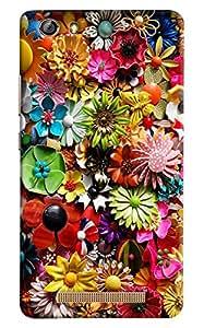 Omnam Flower Printed Pattern Designer Back Cover Case For Gionee Marathon M5 Lite