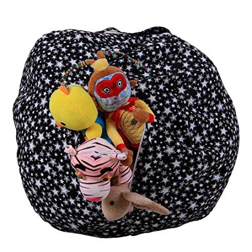 """HUIHUI Sitzsack Kinder, Stofftier Plüsch Spielzeug Speicher Sitzsack Gamer Kissen Lounge Kissen Sitzsack Tasche Aufbewahrung Beutel Sessel Sitzkissen für Kinder,1.4m/55.1"""" (E)"""
