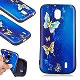 Alfort Coque Nokia 1, Housse Nokia 1 Ultra Souple TPU Prévention des Rayures Antichoc pour Nokia 1 (Papillon)